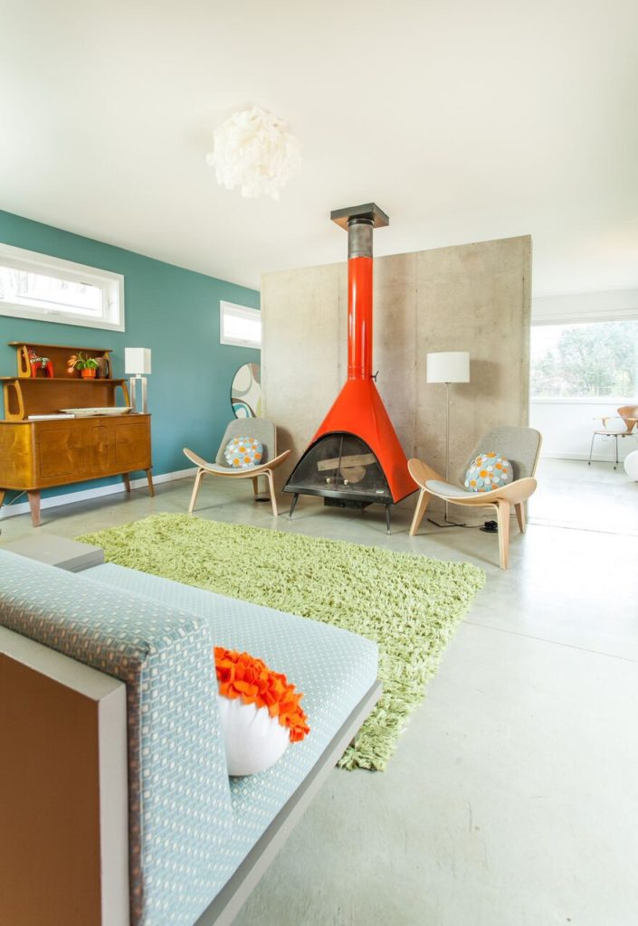 Midcentury home renovation - Interior designer Elin Walters  - living room