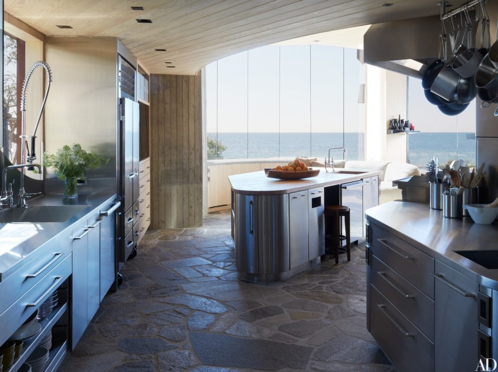 John Lautner - Carbon Beach House renovation - kitchen
