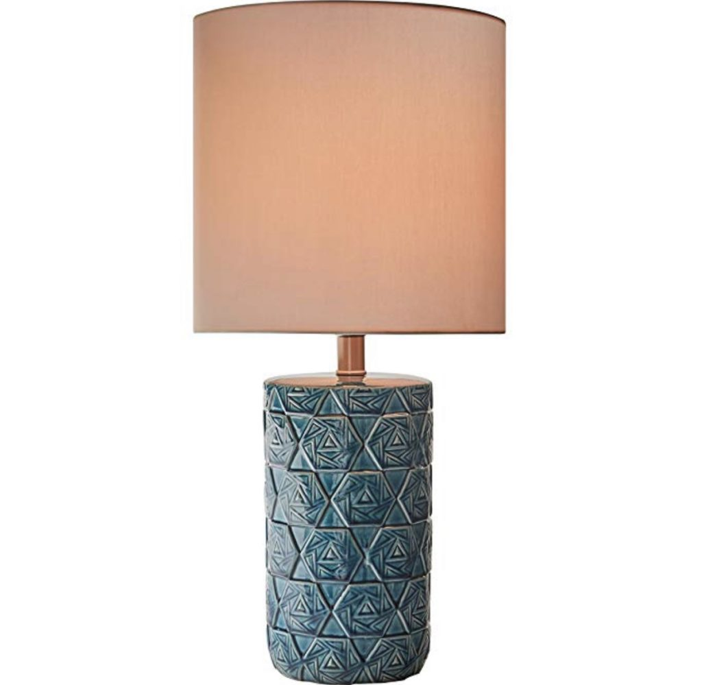 Rivet Geometric Ceramic  midcentury Table Lamp