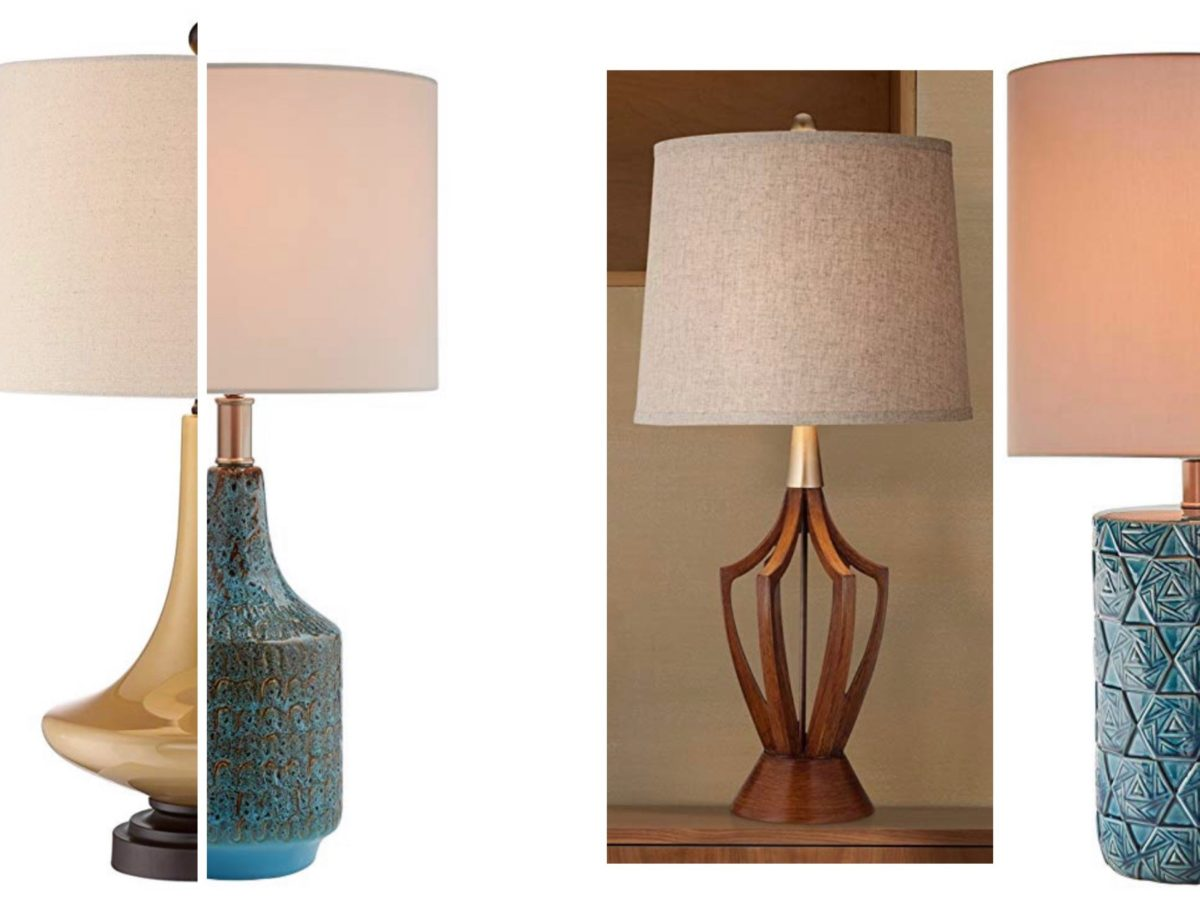 4 midcentury modern lamps