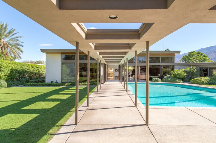 Frank Sinatra - Palms Springs midcentury home - swimming pool
