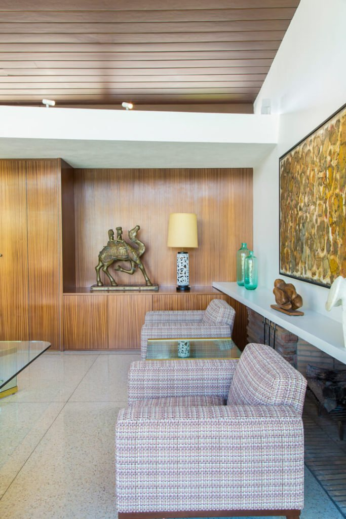 Frank Sinatra - Palms Springs midcentury home - living room