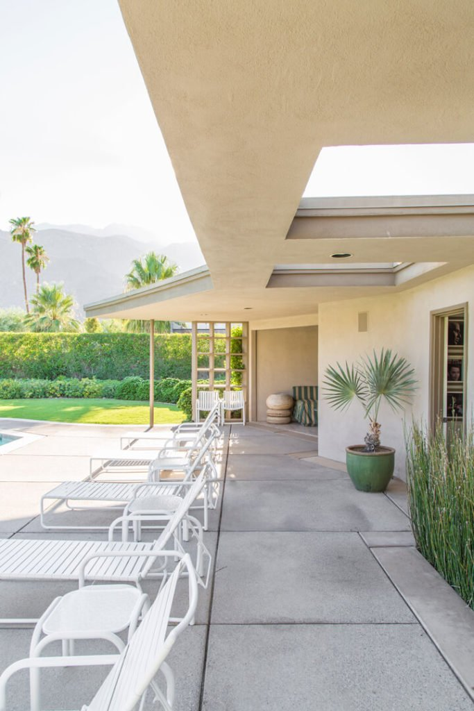 Frank Sinatra - Palms Springs midcentury home - terrace