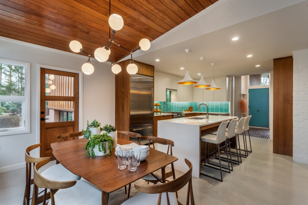 Midcentury home renovation  - dining area