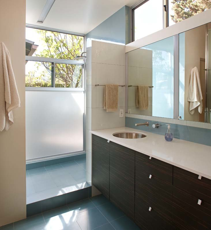 Extension to midcentury home in La Jolla - bathroom
