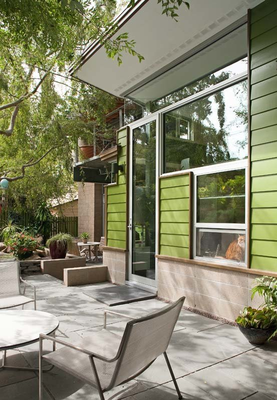 Extension to midcentury home in La Jolla - exterior back
