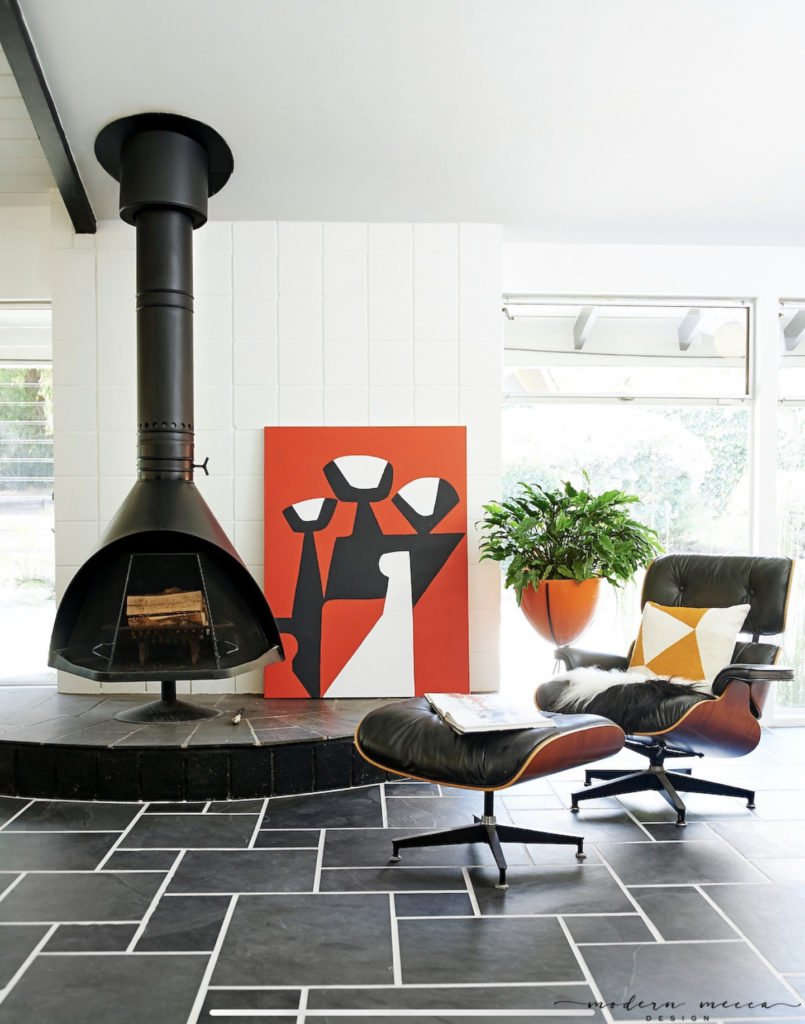 Claudia Andrade San Lucas Midcentury house renovation - living room