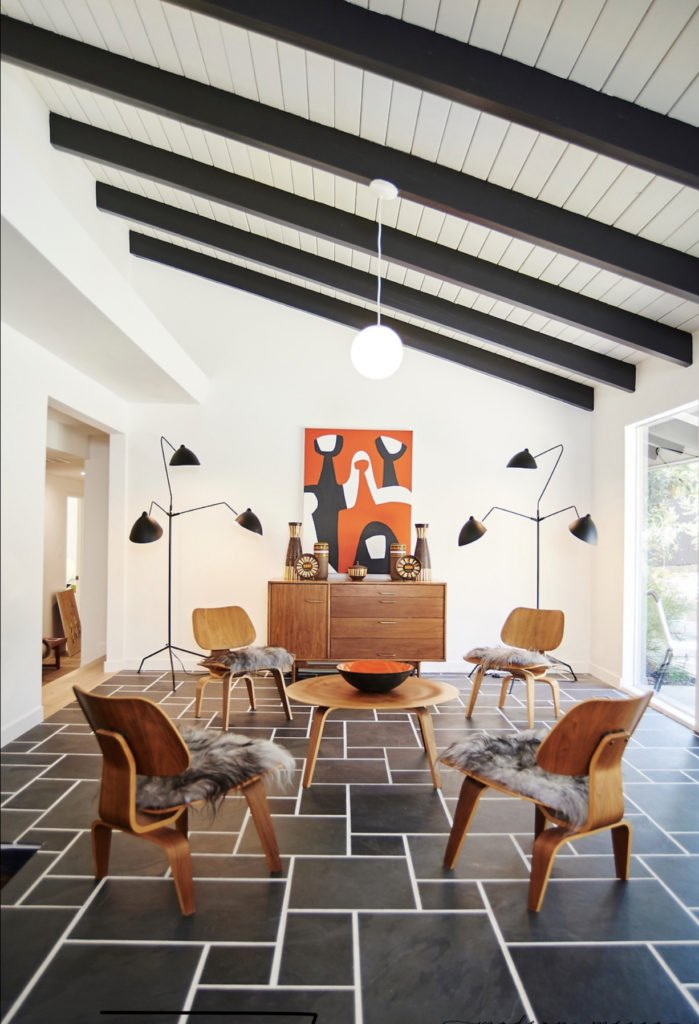 Claudia Andrade San Lucas Midcentury house renovation - dining room