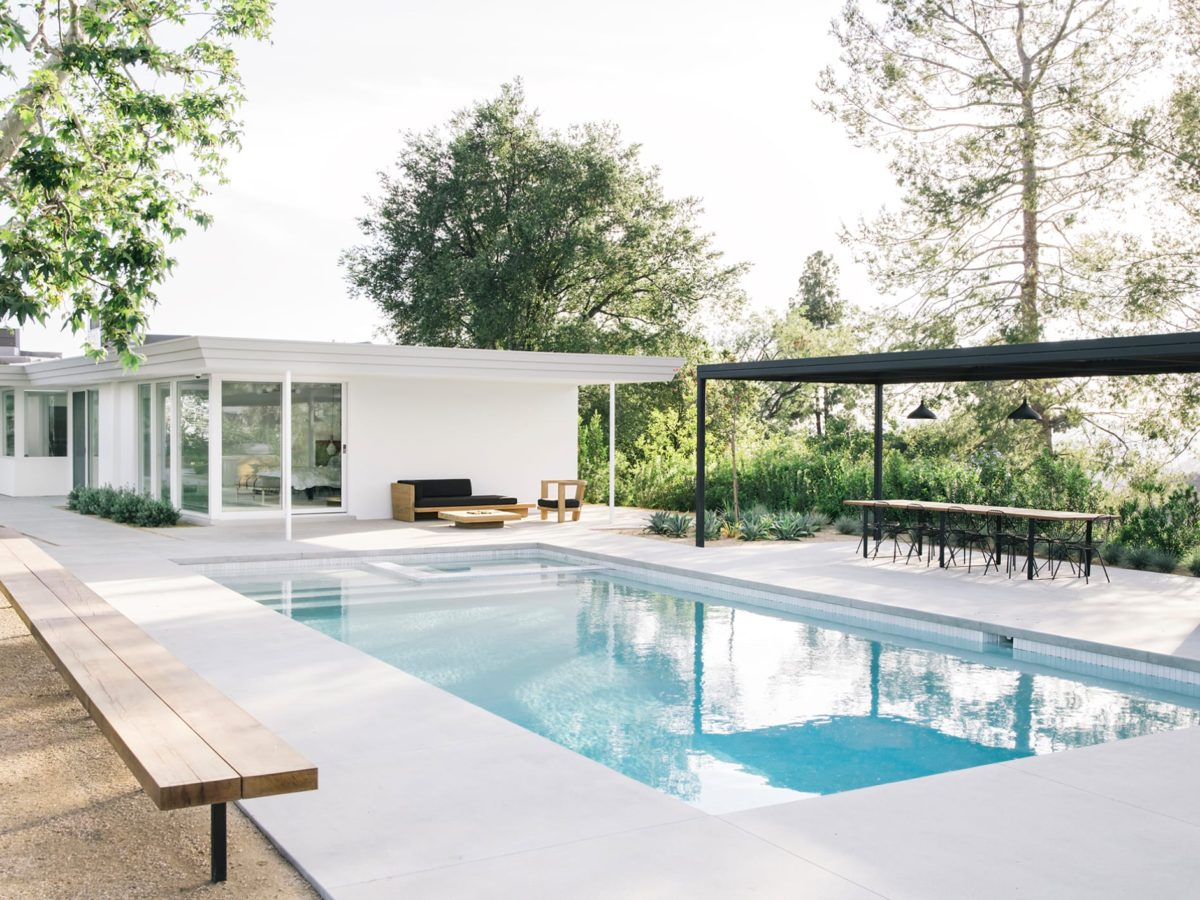 Modernist home - Pasadena - Swimming pool