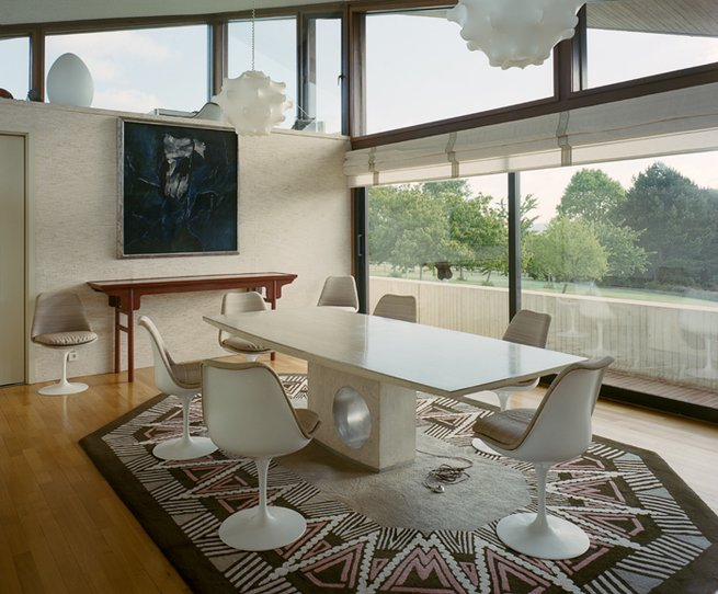 Marcel Breuer  Private House in Normandie - dining area