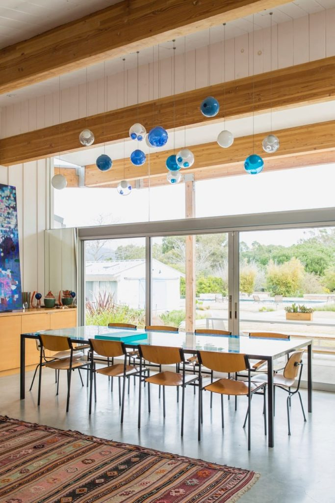 Malibu House - Barbara Bestor - modern midcentury - dining area