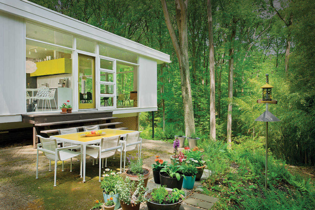 Midcentury home landscape renovation