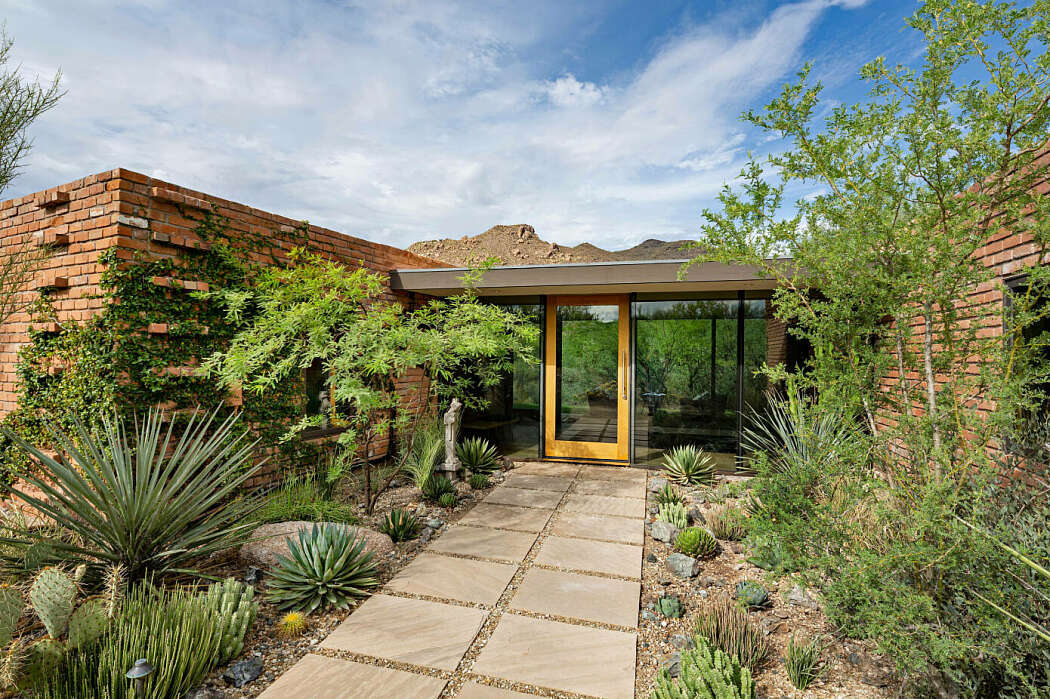 Greey Pickett - midcentury inspired desert house - exterior entrance
