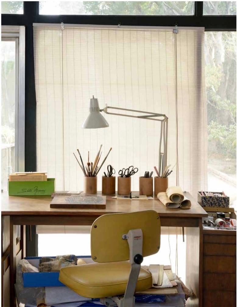 Drafting table in the Ackerman studio made for Evelyn in the 1940s