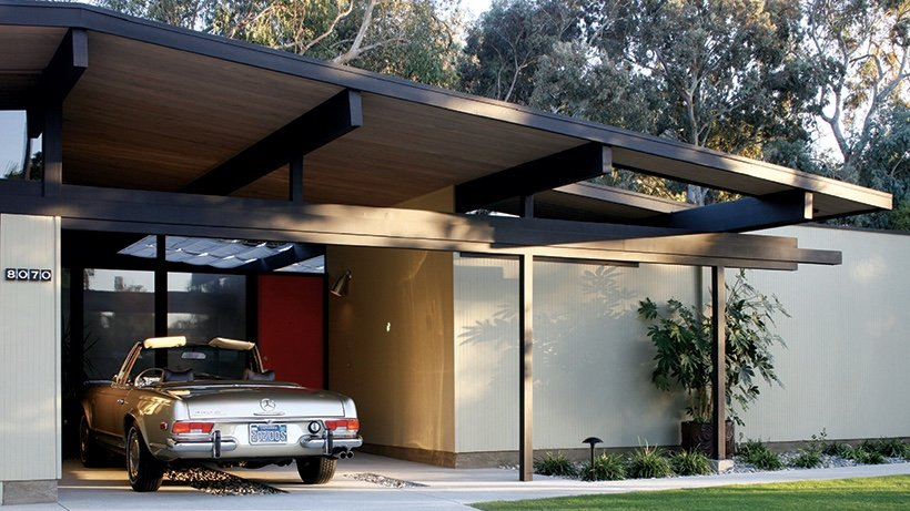 Eichler house renovation Orange county California - back exterior -