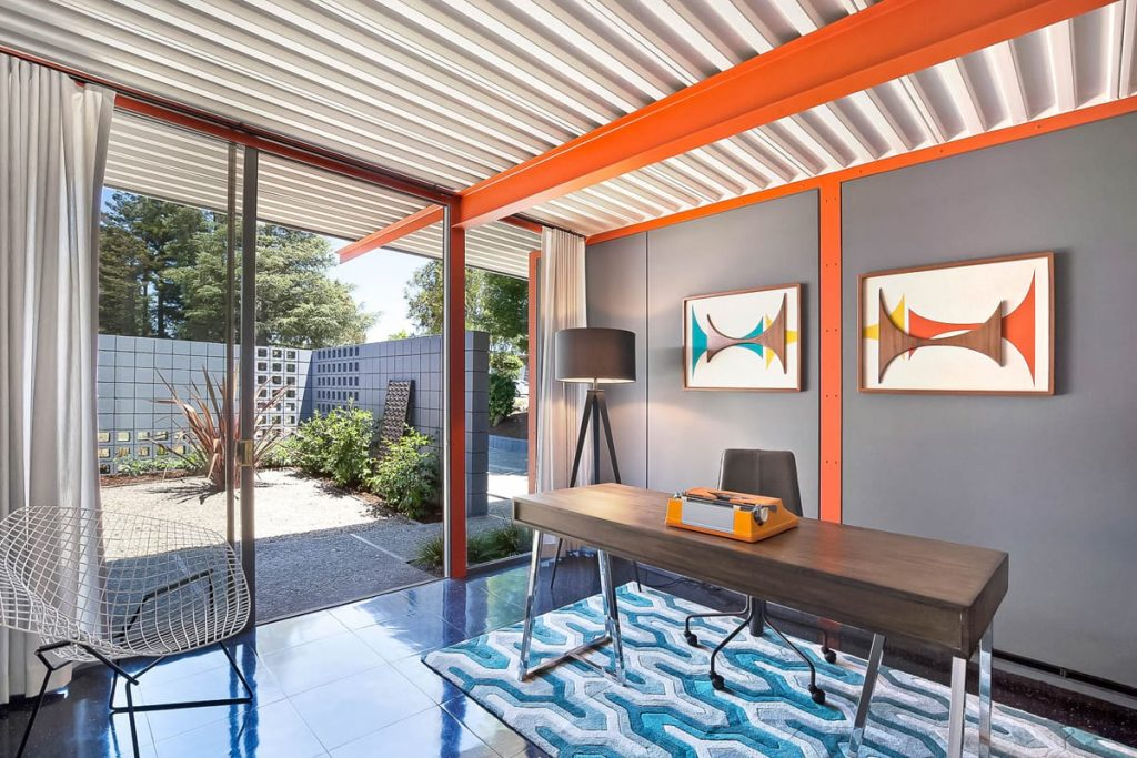 Steel X-100 experimental Eichler renovation - studio