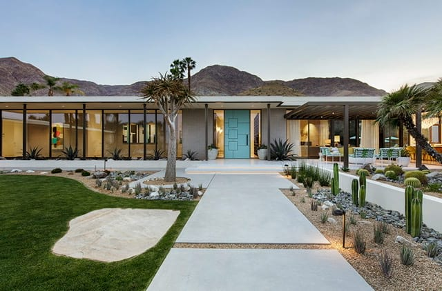 modern meets midcentury  in coachella valley