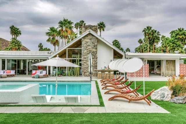 A-frame midcentury home - palm springs -