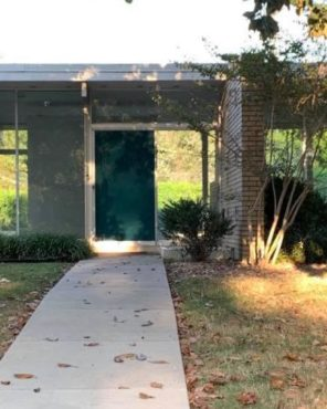 midcentury home door entrance