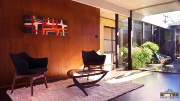 midcentury wooden panels
